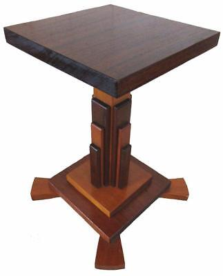 """Art Deco Wood Coffee Table Stand Pedestal 42 cm / 16½"""" Tall"""