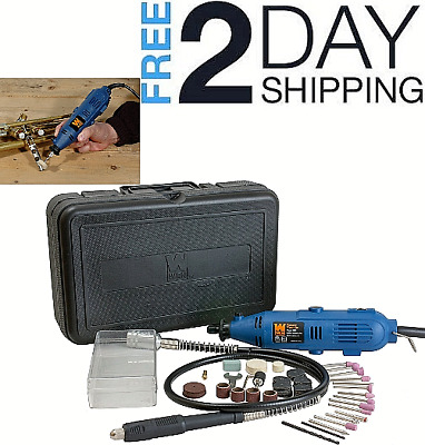 100 Pcs Rotary Tool Kit With Flex Shaft Wen 2305 Variable Speed Grinder Polisher