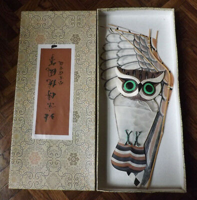 vtg/antique Oriental Japanese/Chinese? owl kite in original box