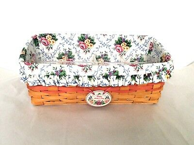 Mothers Day Vanity Basket Protector Liner Tie On Longaberger Historical Records