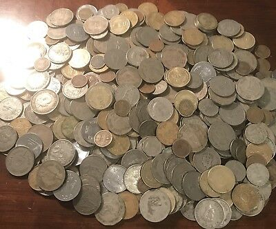 HUGE 3.8 Lbs. India Mixed Lot of Coins - Foreign World Coin Lot MOSTLY 1940s-70s