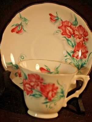 Colclough Sweet Peas  Cup and Saucer