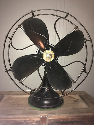 Antique 1926 Robbins & Myers # 5304 Oscillating Electric Fan -Industrial- Works