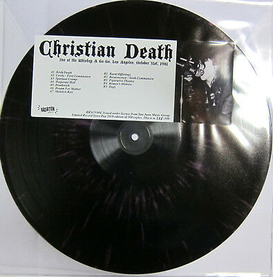 CHRISTIAN DEATH Live at the Whiskey a Go-Go - LP / Splatter Vinyl - RSD 2018