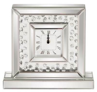 Crystal Accents Desk Clock with Wall Mirrored Frame [ID 3467440]