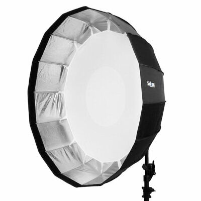 "Selens 65cm 26"" Sliver Foldable Collapsible Beauty Dish Softbox Off-camera Flash"