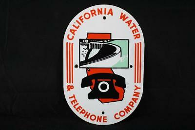 Porcelain California Water & Telephone Company Sign