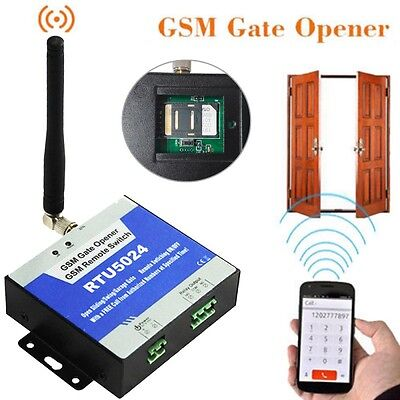 GSM Gate Door Opener Remote Access Control Wireless Controller Switch RTU5024 3G