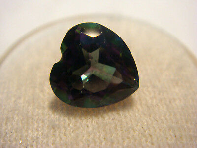 Mystic Topaz Heart Cut Gemstone 9 mm x 9 mm 3.50 carats unique Gem