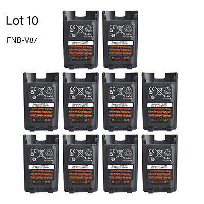 Lot 10 FNB-V87L Li-ion Battery for Vertex Standard VX-820 VX-821 Portable Radio