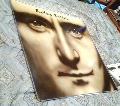 Phil Collins Face Value Hand Painted Airbrush 4' Large Painting Sign Genesis