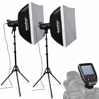 2X Godox SK300II 300W 2.4G Flash Strobe Light Stand Trigger Kit for Nikon 220V
