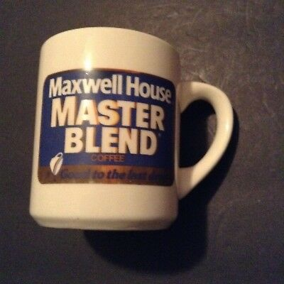 Vintage Maxwell House Master Blend Good to the Last Drop Coffee Mug Ceramic Cup