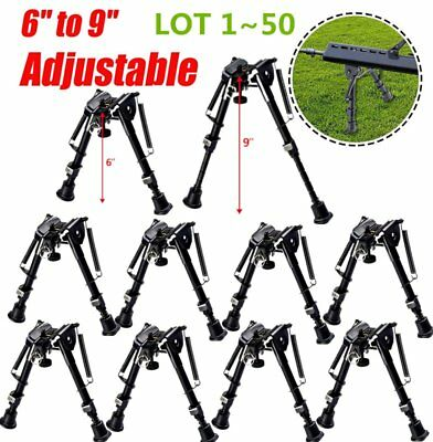 LOT 6-9 Inch Tactical Hunting Rifle Bipod Adjustable Spring Return w/ Adapter AS