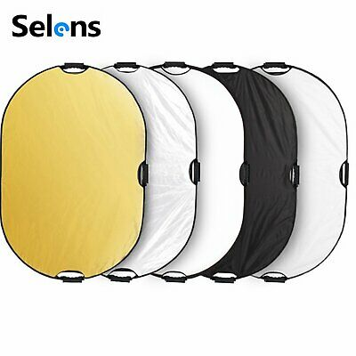 5 in 1 Photography Collapsible Light Reflector Diffuser with Handles 60x90cm