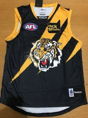 Richmond Tigers Guernsey Jumper Jersey Reebok Rare 2010-11 Brand New Large Men's