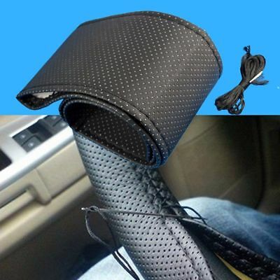 DIY PU Leather Car Auto Steering Wheel Cover With Needles and Thread