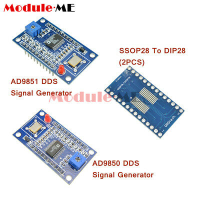 AD9850/AD9851 DDS Signal Generator Module 2 Sine Wave 2 Square Wave Output