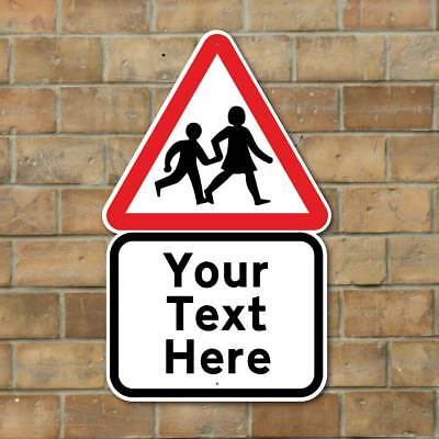 Personalised SLOW CHILDREN PLAYING SIGN, Kids Road Safety Sign, Slow Down Sign
