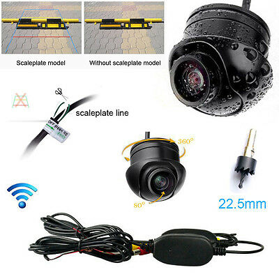 Wireless Car Rear View CCD Wide Vision Front Backup Reverse Parking Camera Sets