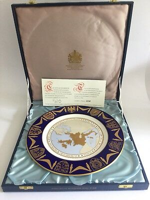 SPODE Mulberry Hall European Community Limited Edition  27 cm Plate (Boxed)