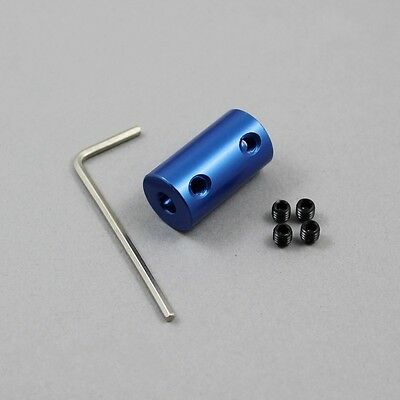 2x Aluminium Shaft Coupler 3mm To 8mm For Hardware/Mould/Mechanical Transmission