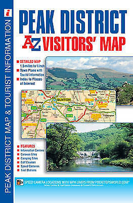 Peak District Visitors Map,SM,Geographers' A-Z Map Company - NEW