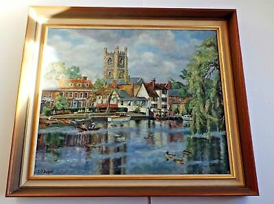 Oil Painting Of The River At Henley On Thames By C H Bagnoli (Signed)