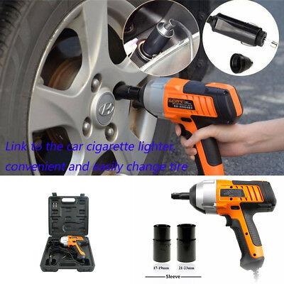 """New Upgrade 1/2"""" Electric Impact Wrench Gun Set w/ Case Car/suv Changing Tire"""
