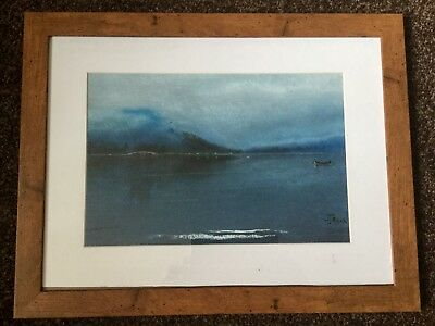 Original Pastel by WJBeck View from Inveraray Harbour