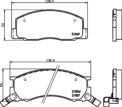 Brake Pads Set fits TOYOTA ESTIMA TCR1 2.4 Front 93 to 99 ADL 0446528470 Quality