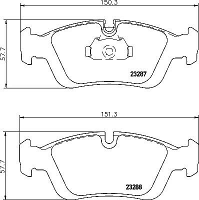 Brake Pads Set fits BMW 320 E36 2.0 Front 90 to 99 QH 34111160356 34111160357