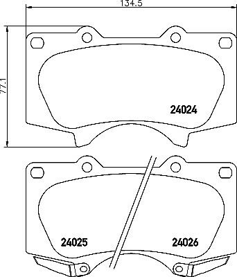Mintex Front Brake Pad Set MDB2984  - BRAND NEW - GENUINE - 5 YEAR WARRANTY