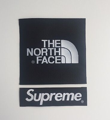 The North Face X Supreme Red Arm Patch TNF Sew On/Glue On For Jacket Or Fleece