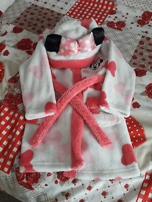 minnie mouse dressing gown 9 -12 months