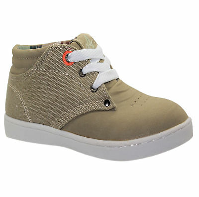 Boys Lace Up Desert Boots Infants Hi Top Trainers Lightweight Kids Casual Shoes