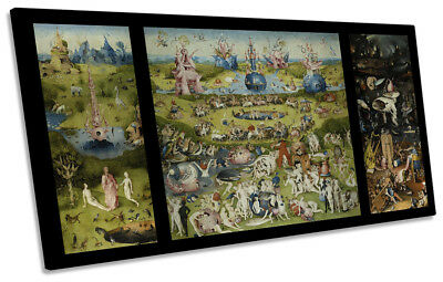 The Garden of Earthly Delights Hieronymus Bosch PANORAMIC CANVAS WALL ART Print