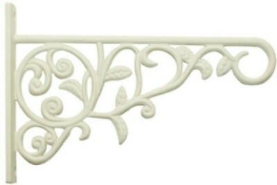 Panacea Plant Bracket with Leaves, White, 9""