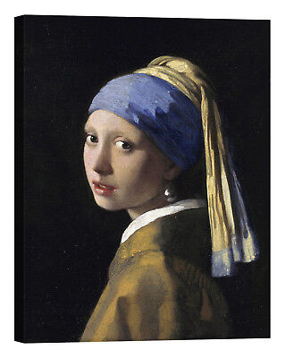 Jan Vermeer Girl With A Pearl Earring Stampa su tela Canvas effetto dipinto