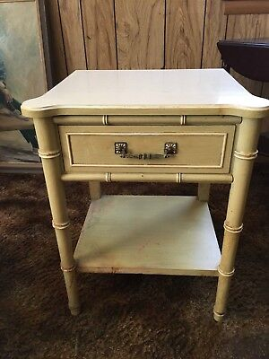 henry link vintage faux bamboo end table