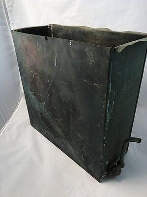antique KITCHEN wood stove COPPER hot water reservoir Patina Steampunk Rare