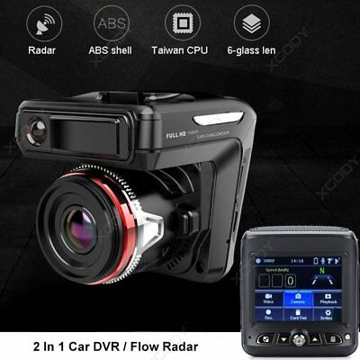 HD 1080P 2 in 1 For Car DVR Dash Cam Radar Speed Detector Video Camera Recorder