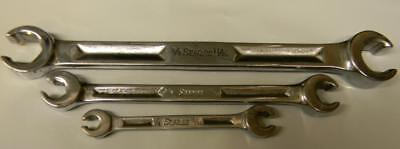 Vintage Snap-On 3Pc Sae 6Pt Double End Flare Nut Wrench Set