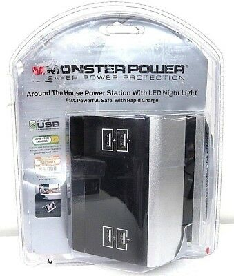 Monster Power Small Home Charging Station 4 USB Ports (123087-00)