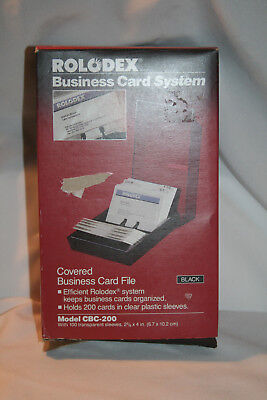 Nib Rolodex Business Card File Cbc-200 Transparent Sleeves