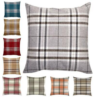 Tartan Check Cushion Cover Regular 18 inch ( 45 cm)  or Large 22 inch ( 55 cm )
