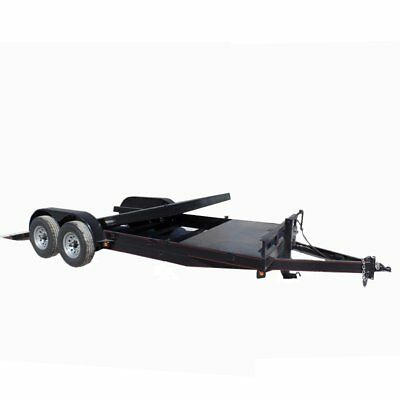 Equipment Trailer 7' X 20' Split Deck Tilt Bed Dual Axle Car Hauler