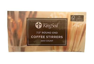 KingSeal FSC Certified Sustainably Sourced Birch Wood Coffee Stirrers, Stir S...