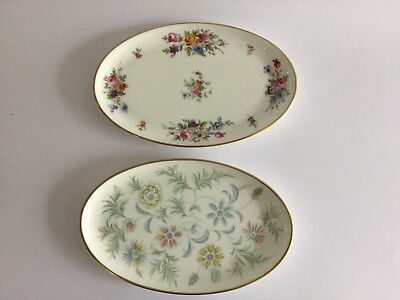 "MINTON OVAL PIN / TRINKET DISHES X 2 ~ Vanessa ~ Marlow ~ 8 1/4"" x 5 1/4"""