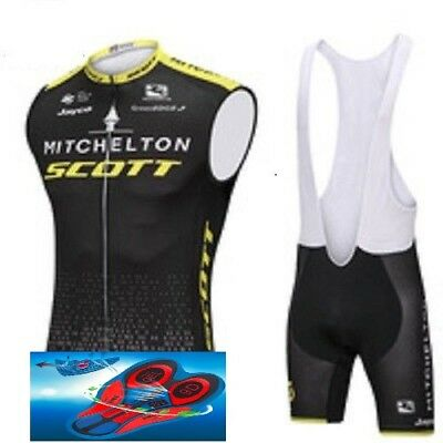"2018 TEAM Scott Mitchelton Cycling Pro Set 9D Gel Pad Sleeveless ""Fast Delivery"""